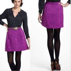 HD in Paris Skirt Textured Purple Colorful Mini